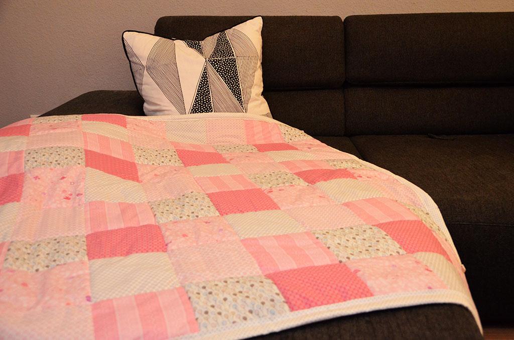 Decke stricken patchwork plus