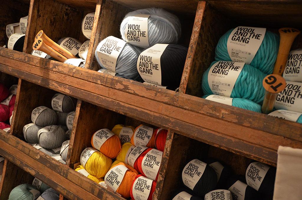 Aufbewahrung Wolle